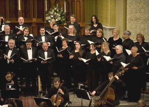 Handel Choir singing