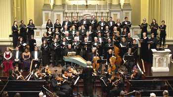 Handel Choir performs with Baroque Period Instrument Orchestra