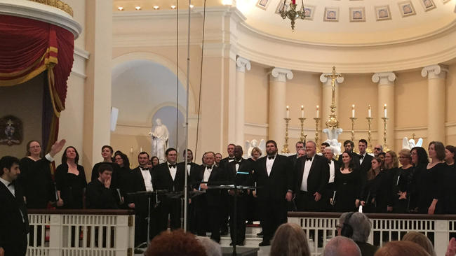 Handel Choir at the Baltimore Basilica March 05_2016 by Bruce Greenwald