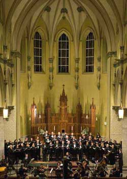 Handel Choir performing Messiah